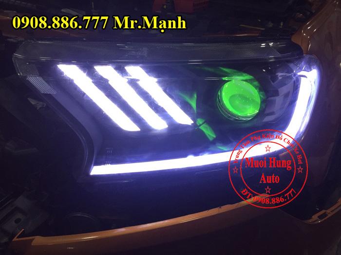 Độ Đèn Led, Mắt Quỷ Xe Ford Ranger 03