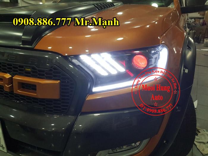Độ Đèn Led, Mắt Quỷ Xe Ford Ranger 04