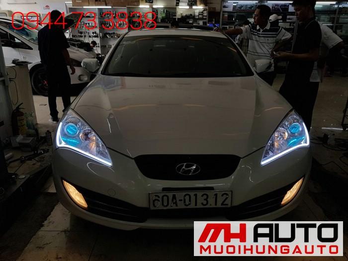 Độ Đèn Led, Mắt Quỷ Xe Hyundai Genesis 02