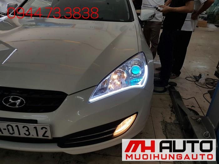 Độ Đèn Led, Mắt Quỷ Xe Hyundai Genesis 01