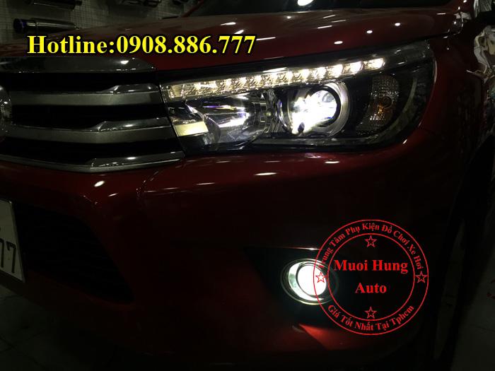 Độ Đèn Led Xe Toyota Hilux 2016, 2017