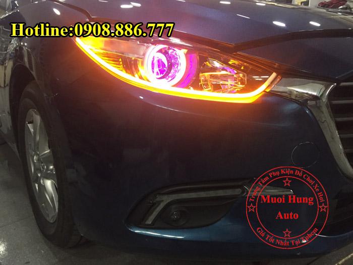Độ Đèn Mắt Quỷ Mazda 3 2017 Tại Tphcm 02