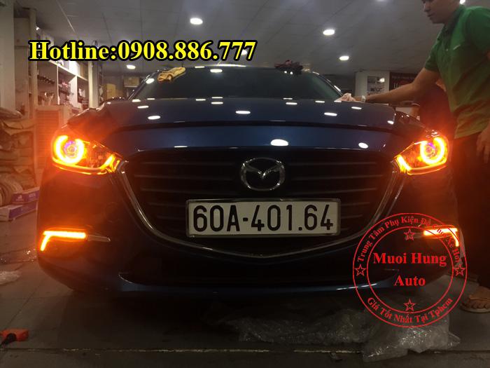 Độ Đèn Mắt Quỷ Mazda 3 2017 Tại Tphcm 03