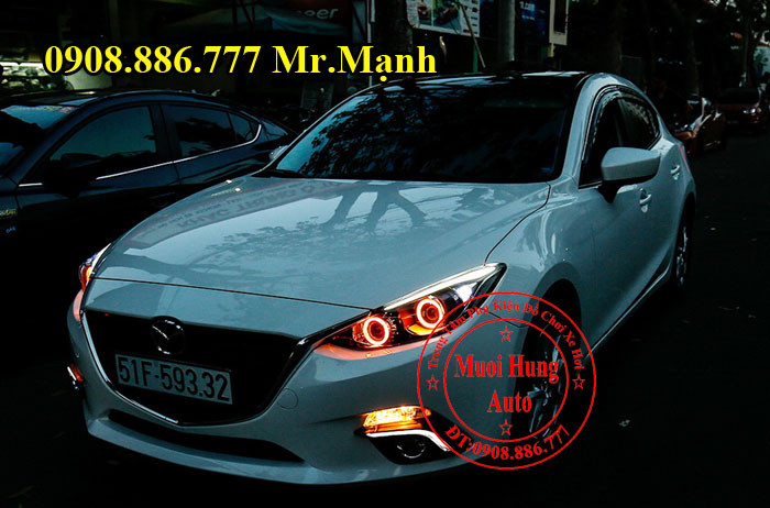 Độ Đèn Mazda 3 Chuyên Nghiệp Tại Tphcm