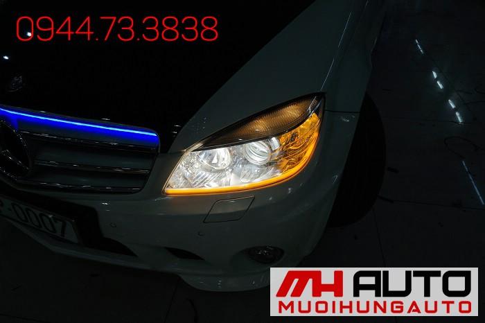 Độ Đèn Mercedes C200 Tăng Sáng Cực Đẹp 02
