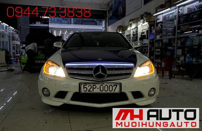 Độ Đèn Mercedes C200 Tăng Sáng Cực Đẹp 05