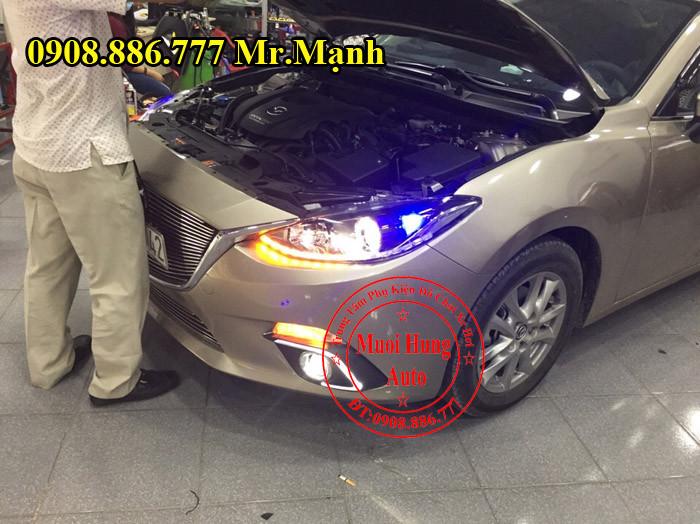 Độ Đèn Pha, Led Mazda 3 Tại TPHCM 01