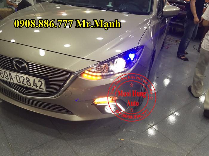 Độ Đèn Pha, Led Mazda 3 Tại TPHCM 02