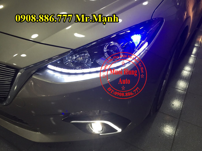 Độ Đèn Pha, Led Mazda 3 Tại TPHCM 04