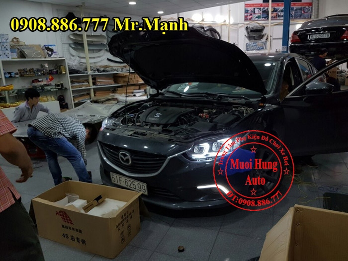 Độ Đèn Pha Xe Mazda 6 Tại Tphcm 03