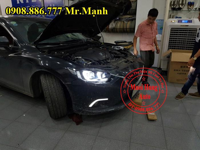 Độ Đèn Pha Xe Mazda 6 Tại Tphcm 04