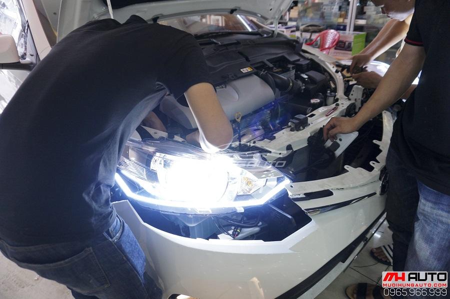 Độ Đèn Toyota Vios 2017, 2018 Siêu Sáng 01