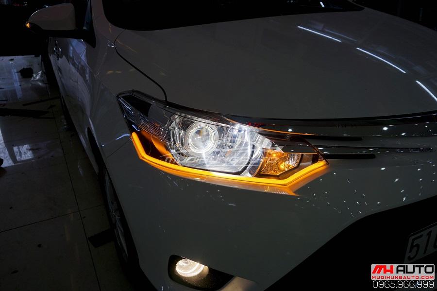 Độ Đèn Toyota Vios 2017, 2018 Siêu Sáng 08