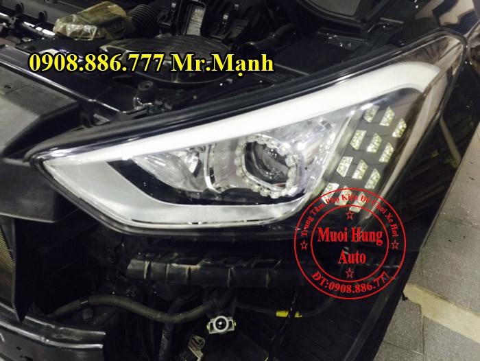 Độ Đèn Xe Hyundai Santafe 2016 01