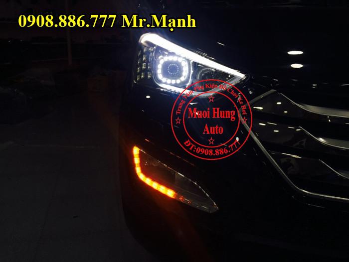 Độ Đèn Xe Hyundai Santafe 2016 03
