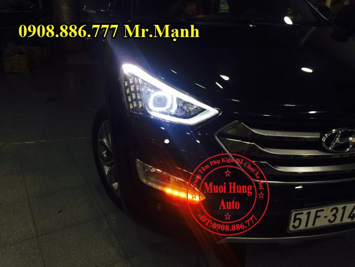 Độ Đèn Xe Hyundai Santafe 2016 04