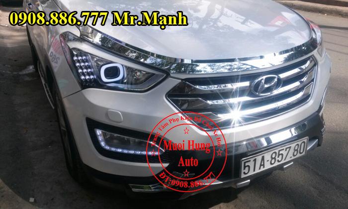 Độ Đèn Xe Hyundai Santafe 2016 Chuyên Nghiệp 02