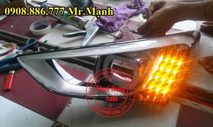 Độ Đèn Xe Hyundai Santafe 2016 Chuyên Nghiệp 04