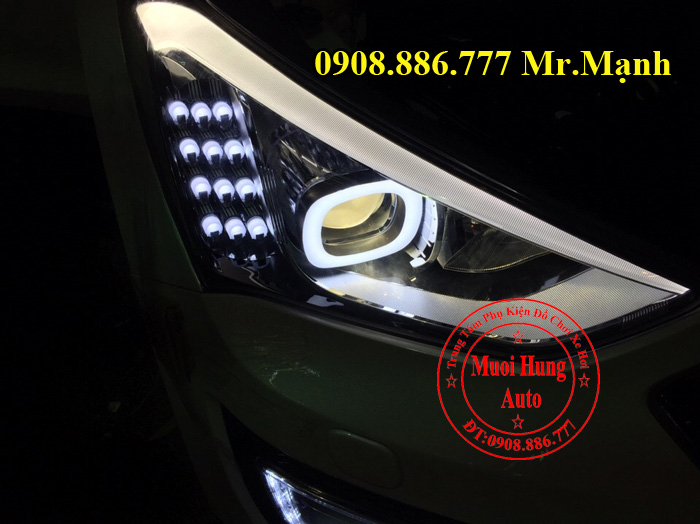 Độ Đèn Xe Hyundai Santafe 2016 Chuyên Nghiệp