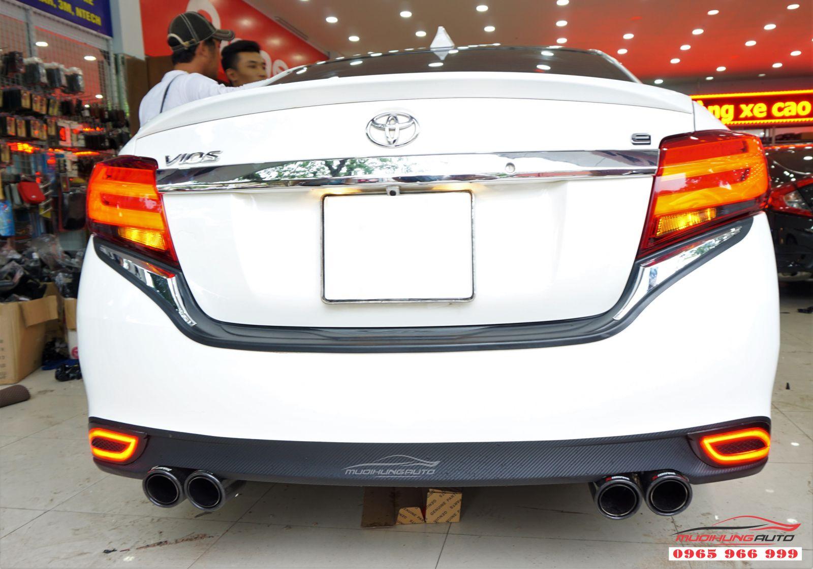 Độ pô Akrapovic Toyota VIOS 2019 tại tphcm