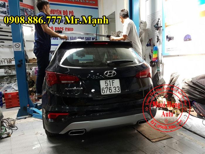 Độ Pô Cho Xe Hyundai Santafe Kiểu 2017 01