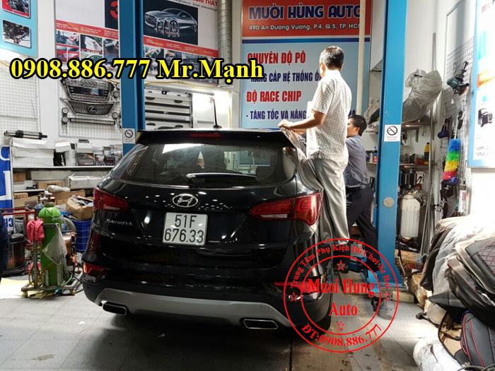 Độ Pô Cho Xe Hyundai Santafe Kiểu 2017 02