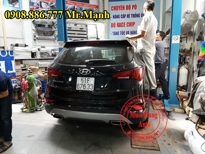 Độ Pô Cho Xe Hyundai Santafe Kiểu 2017 03