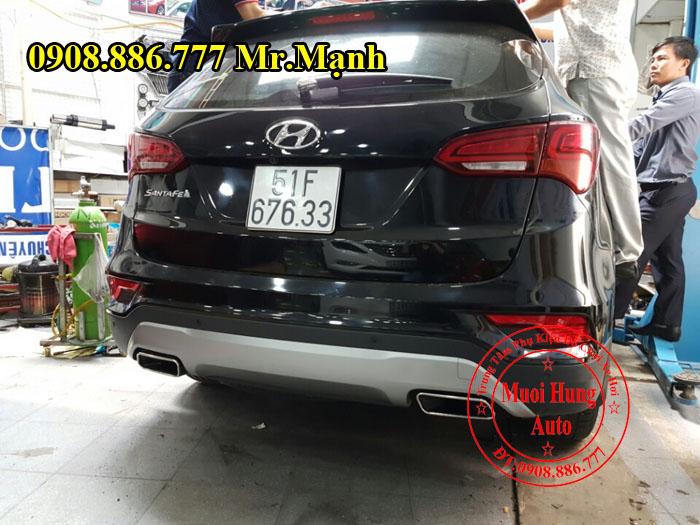 Độ Pô Cho Xe Hyundai Santafe Kiểu 2017