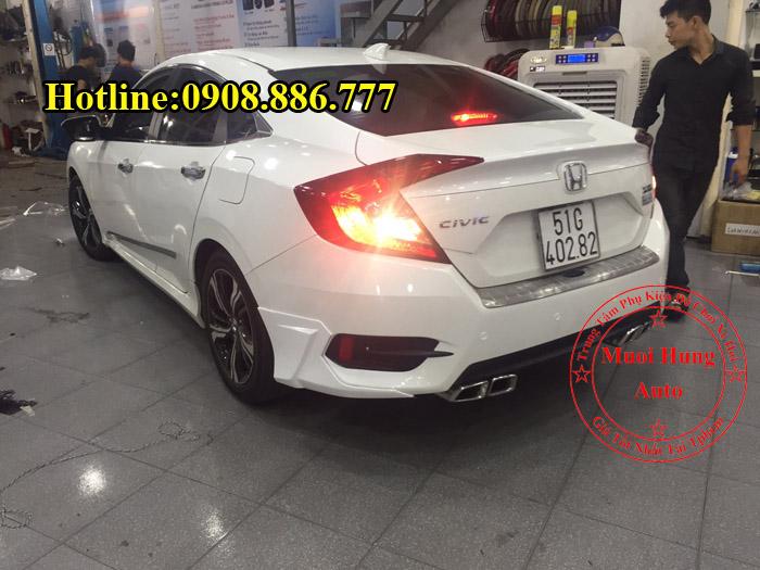 Độ Pô Honda Civic Chuyên Nghiệp Giá Rẻ 02