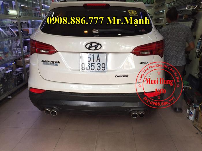 Độ Pô Xe Hyundai Santafe Tại TPHCM 04