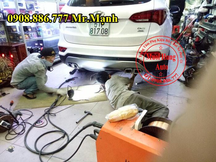 Độ Pô Xe Hyundai Santafe Tại TPHCM 01