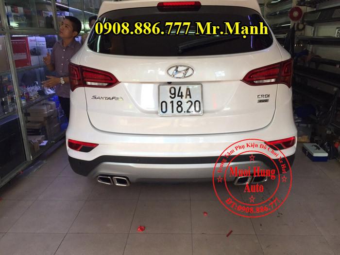 Độ Pô Xe Hyundai Santafe Tại TPHCM 03