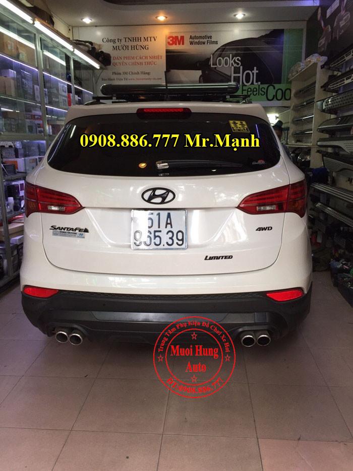 Độ Pô Xe Hyundai Santafe Tại TPHCM 05