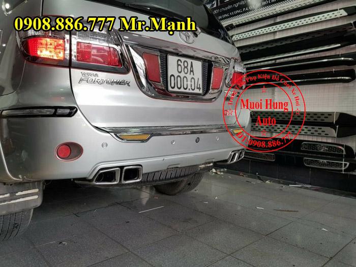 Độ Pô Xe Toyota Fortuner Kiểu Mercedes 03