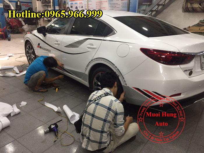 Độ Tem Cho Xe Mazda 6 Chuyên Nghiệp 01