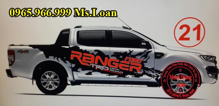 Độ Tem Xe Ford Ranger 2016 Tại Tphcm 04