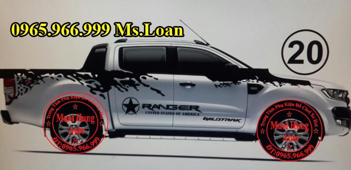 Độ Tem Xe Ford Ranger 2016 Tại Tphcm 06