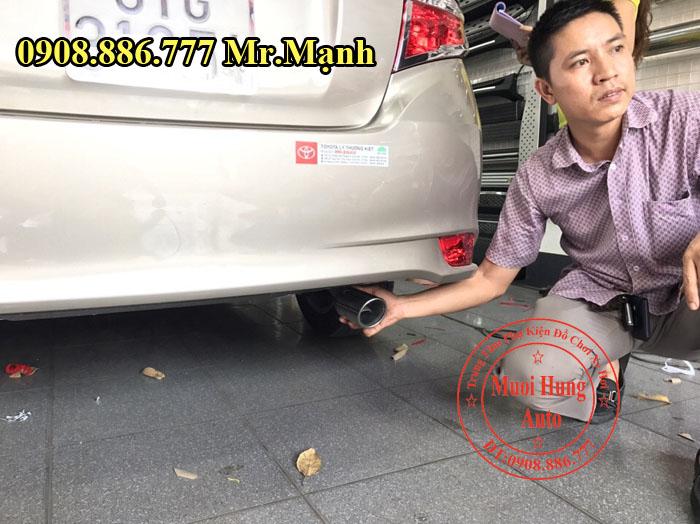 Đuôi Pô Trang Trí Toyota Vios 2016, 2017 02