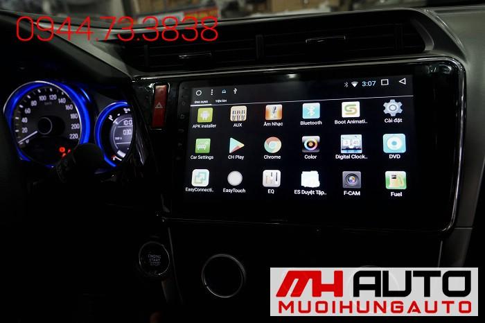 Lắp DVD Android Xe Honda City Chính Hãng 01