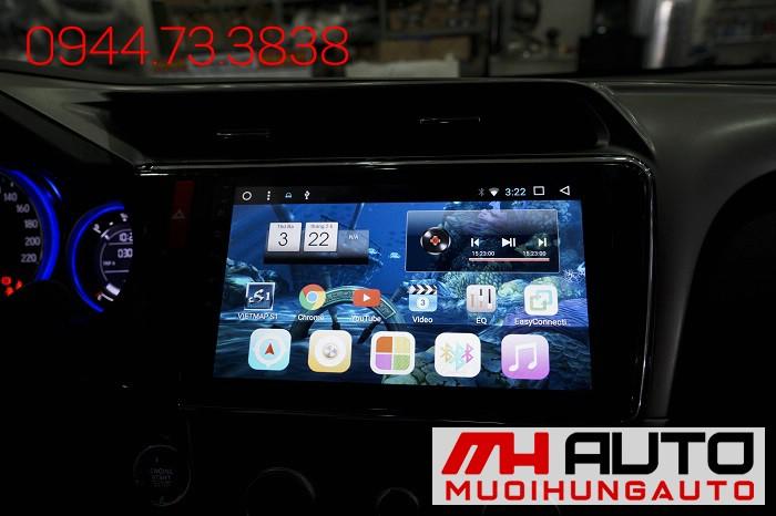 Lắp DVD Android Xe Honda City Chính Hãng 03