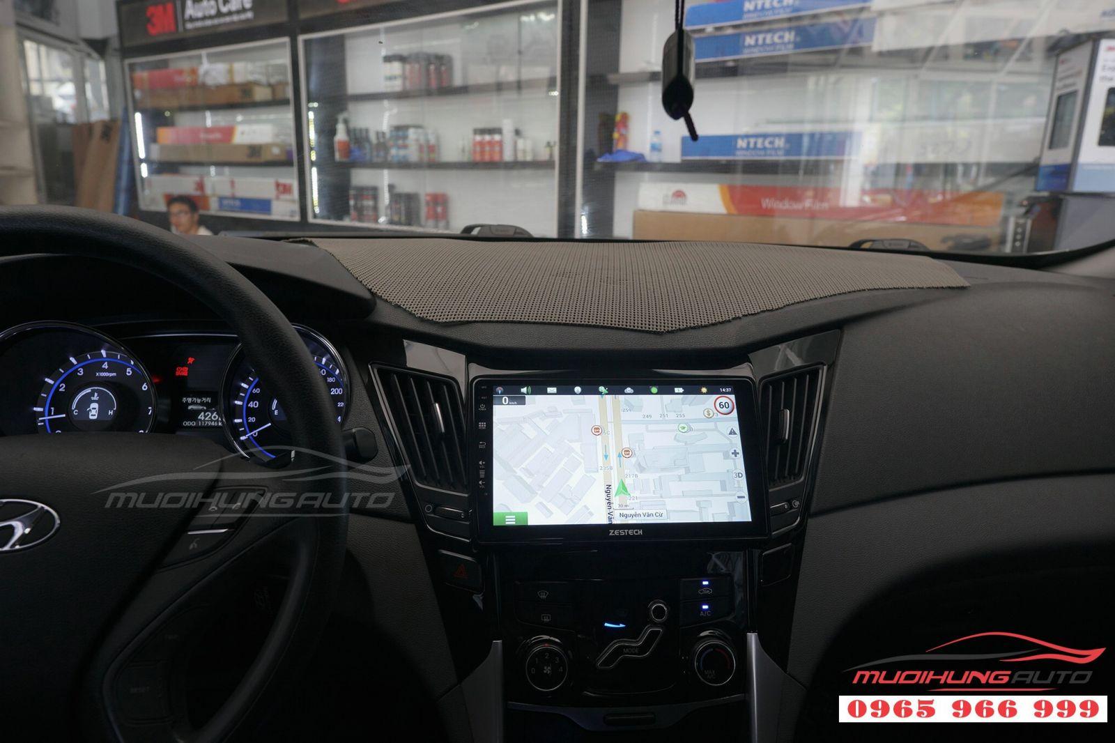 Lắp màn hình DVD Zestech cho Hyundai Sonata 01