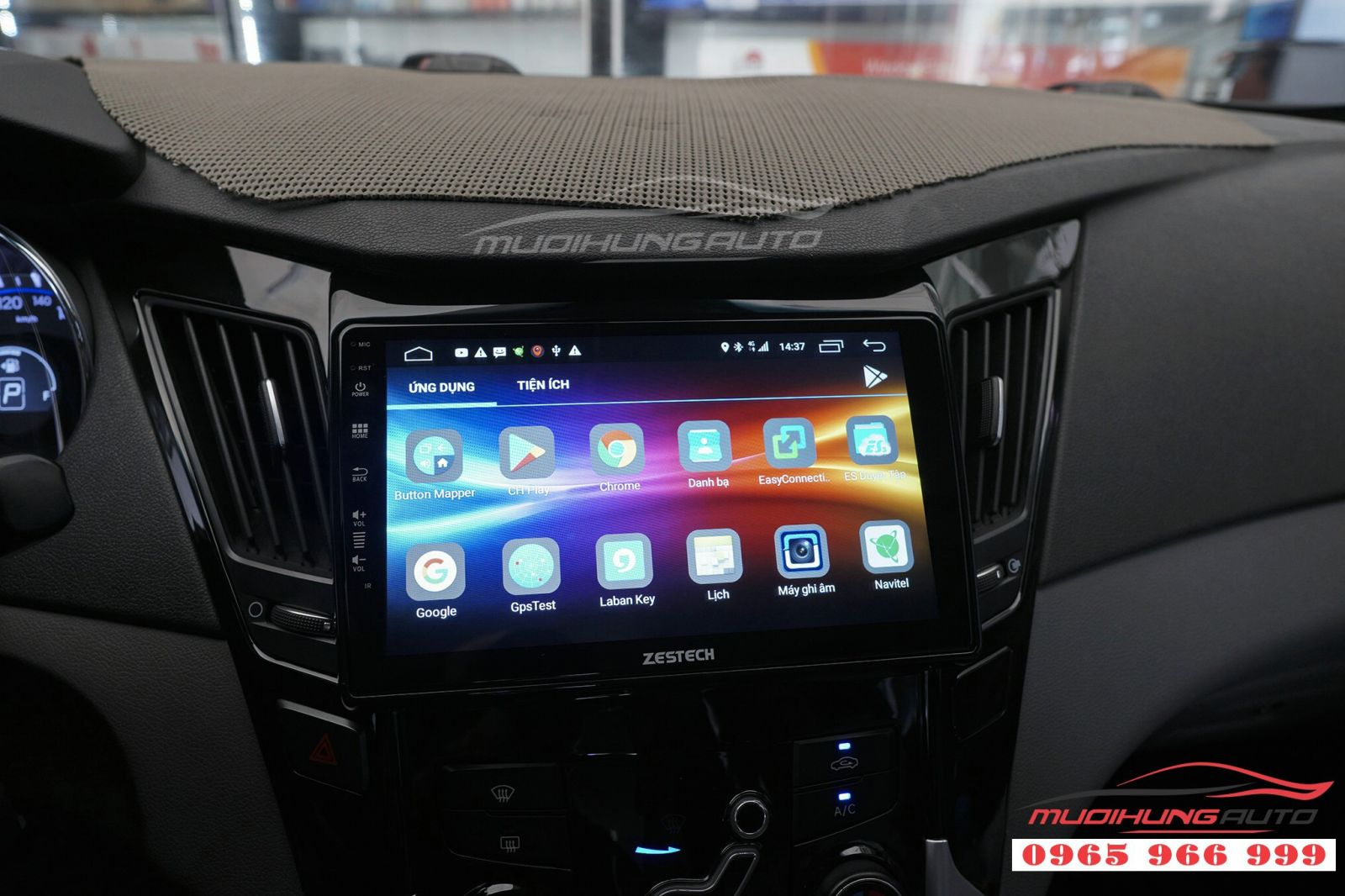 Lắp màn hình DVD Zestech cho Hyundai Sonata 04