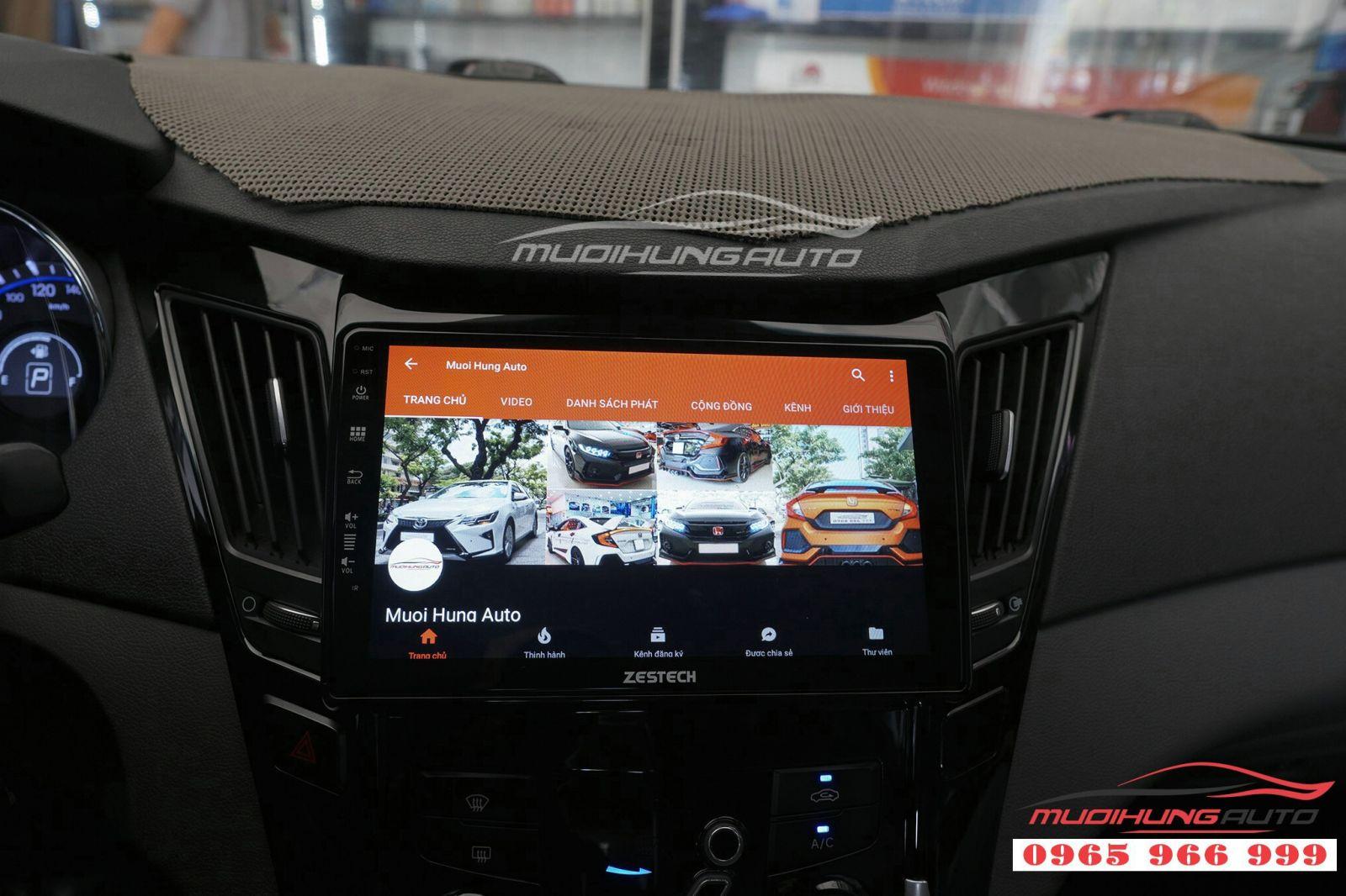 Lắp màn hình DVD Zestech cho Hyundai Sonata 05