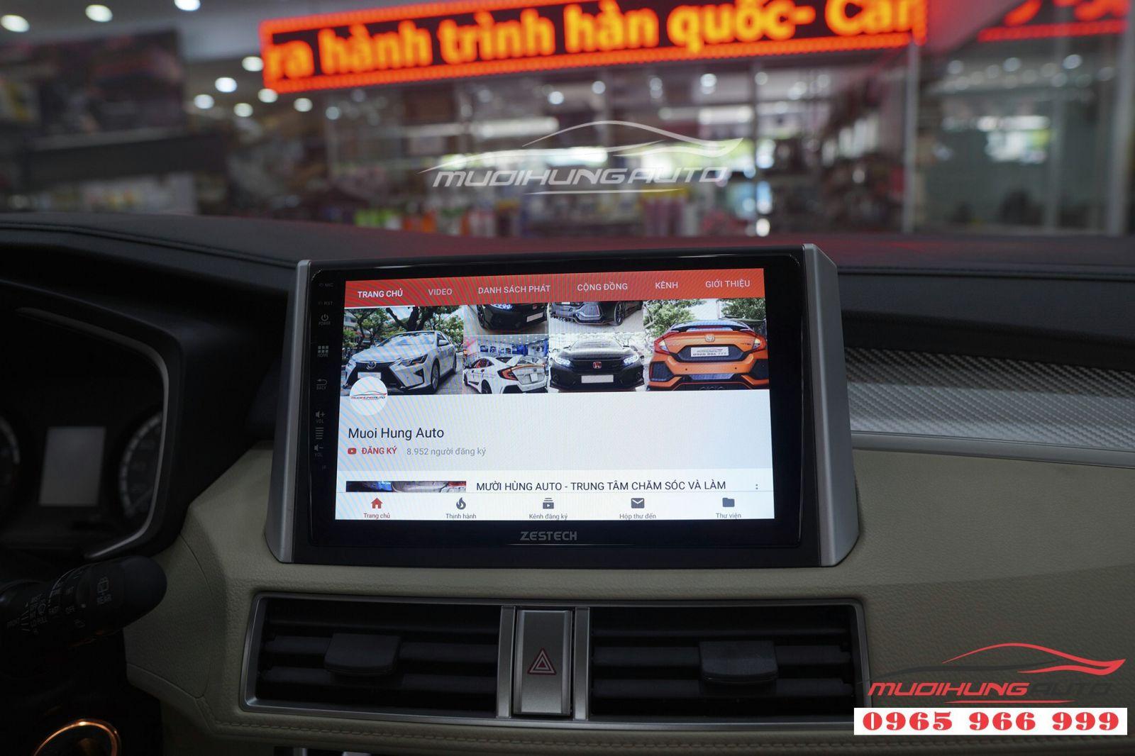 Lắp màn hình DVD Zestech Z500 cho Mitsubishi Xpander 04
