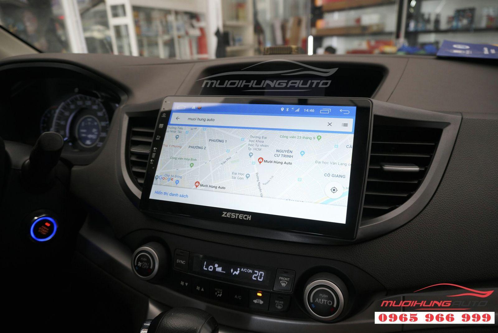 Lắp màn hình DVD Zestech Z500 cho Honda CRV 2012 02