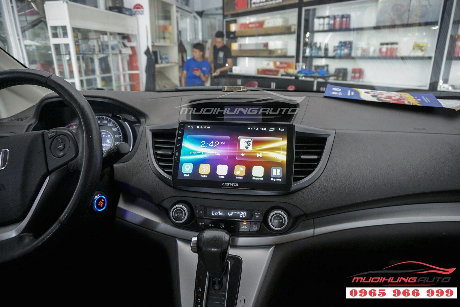 Lắp màn hình DVD Zestech Z500 cho Honda CRV 2012 01
