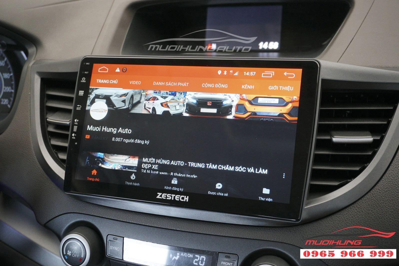 Lắp màn hình DVD Zestech Z500 cho Honda CRV 2012 03