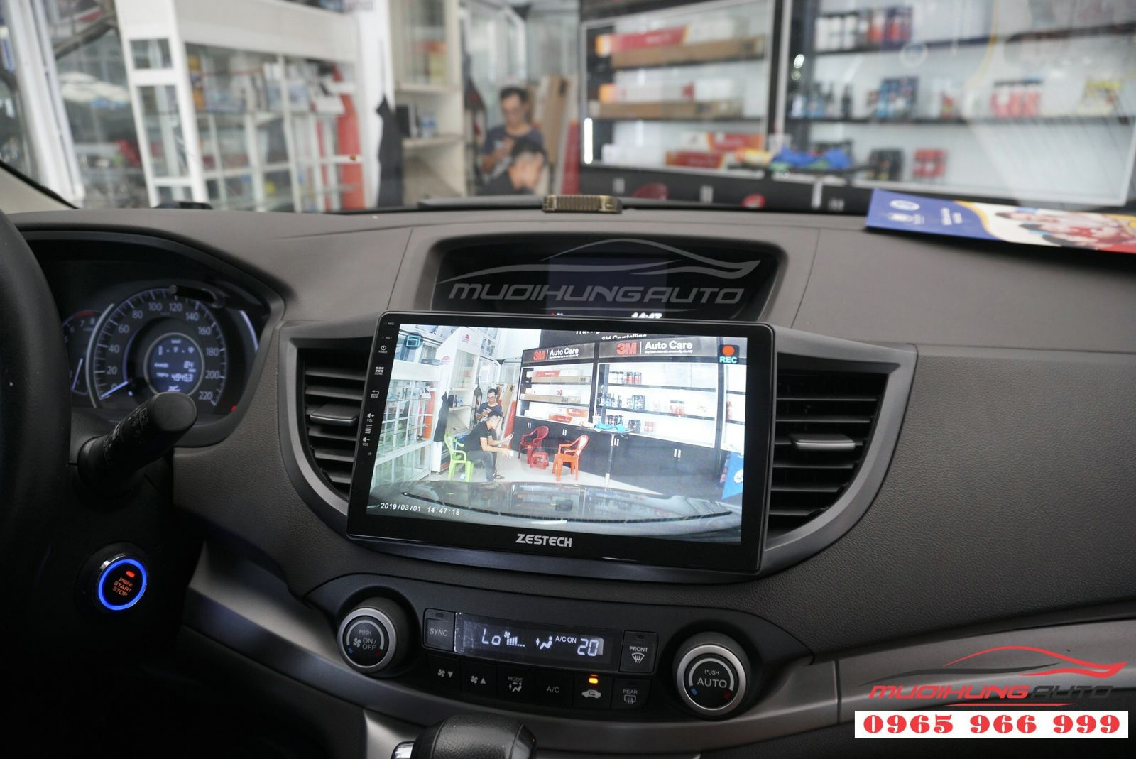 Lắp màn hình DVD Zestech Z500 cho Honda CRV 2012 05