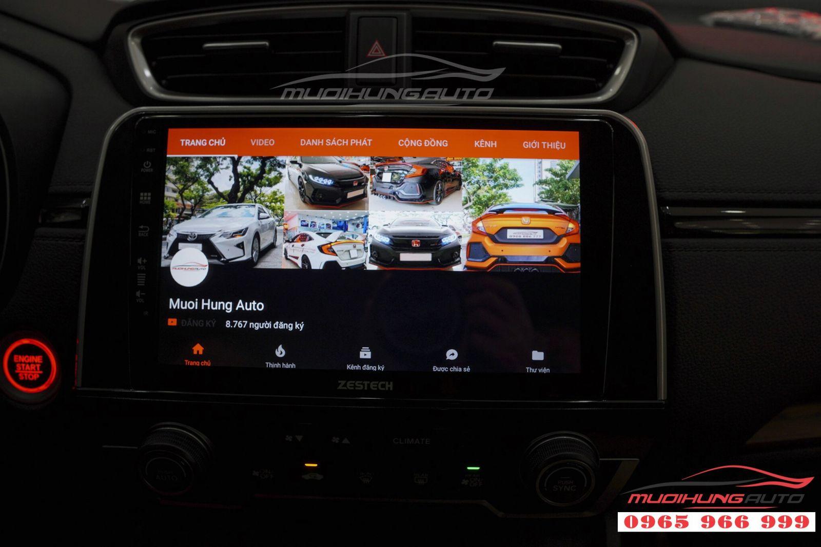 Lắp màn hình DVD Zestech Z500 cho Honda CRV 2018  01