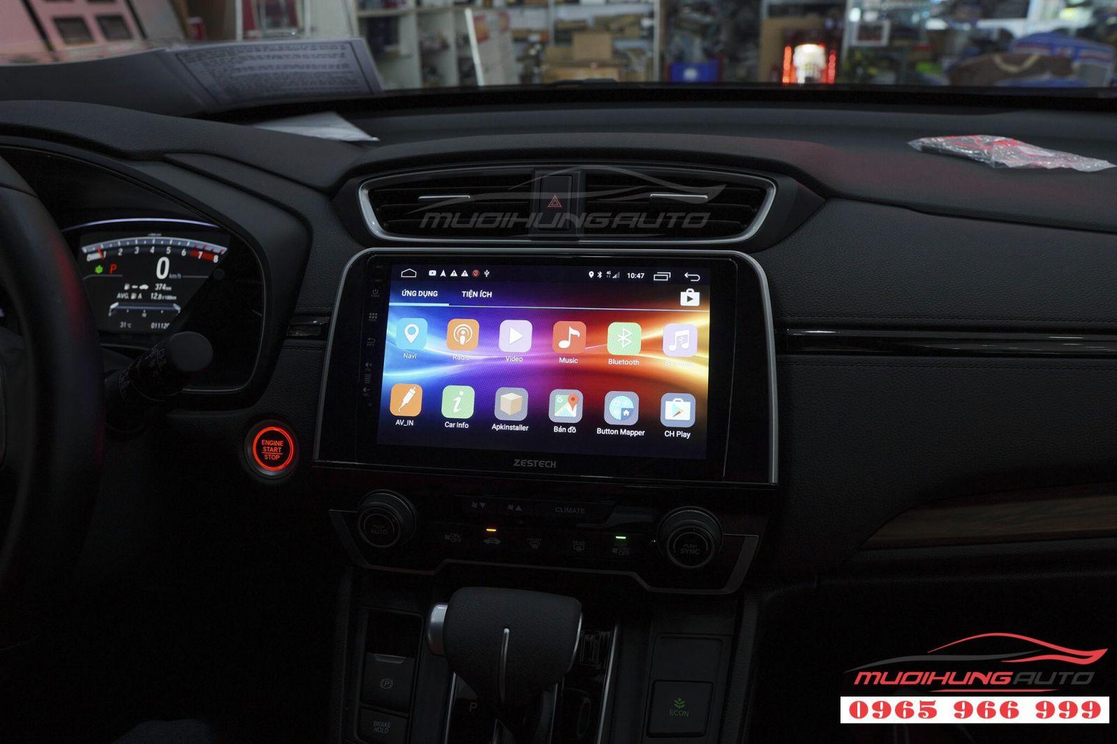 Lắp màn hình DVD Zestech Z500 cho Honda CRV 2018  03